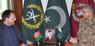 Army Chief, Afghan envoy discuss security situation