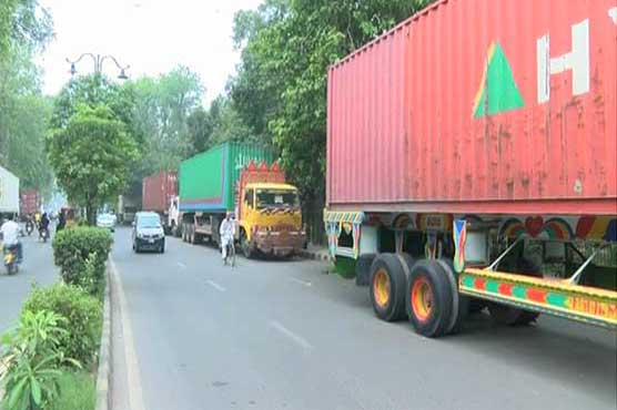 Lahore to be sealed with containers ahead of Nawaz, Maryam arrival