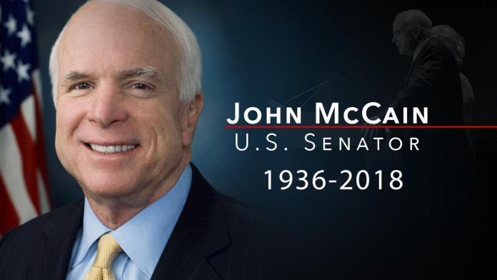 US Senator John McCain dies at 81