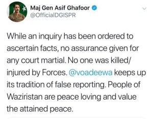No one killed by security forces in North Waziristan: DG ISPR