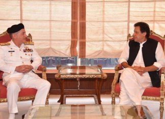 NAval chief calls on PM Imran, discuss professional matters