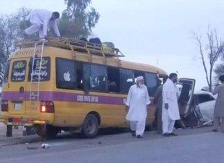 Five family members killed in road accident near Karak