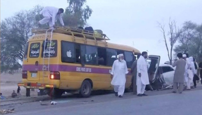 Five family members killed in road accident near Karak
