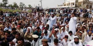 Miranshah sit-in File Photo
