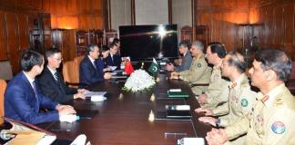 Army Chief, Chinese FM discuss regional security & bilateral cooperation