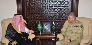 Saudi minister meets COAS, lauds strong bilateral ties