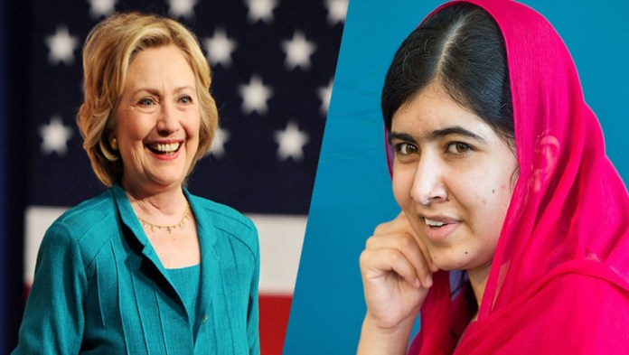 Hillary Clinton hails Malala's commitment for girls' rights