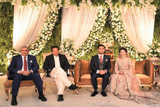 PM Imran attends valima ceremony of COAS Gen Bajwa's son