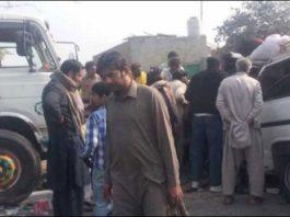 Four killed in car-truck collision near Nooriabad