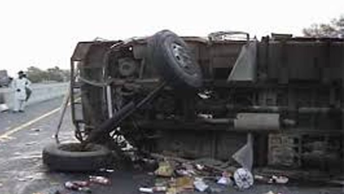 Four killed as Swat bound passenger bus overturns in Rajanpur