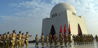 Change of guards ceremony held at Mazar-e-Quaid