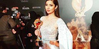 Mahira Khan honoured at the DIAFA awards in Dubai
