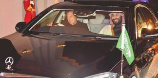 PM Imran drives Saudi crown prince back to Nur Khan airbase