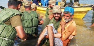 Security forces rescue 1500 families in Balochistan's flood hit areas