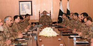 Corps Commanders Conference reviews ongoing Pakistan India standoff situation