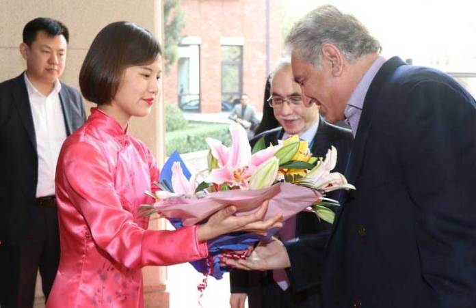 FM Qureshi in Beijing to attend Pak-China Strategic Dialogue