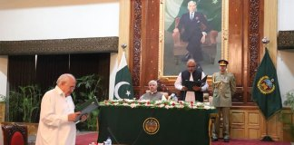 Liaquat Khattak takes oath as Khyber Pakhtunkhwa Minister