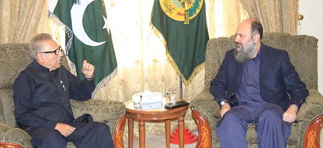 President, Governor, CM Balochistan discuss overall situation of province