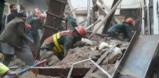 Six family members killed as building collapses in Lahore