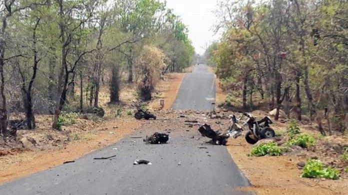 IED blast kills 16 commandos of police in western India