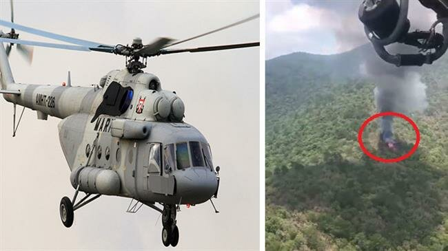 Mexican military helicopter crashes, killing six