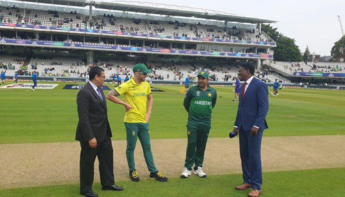 World Cup 2019: Pakistan opt to bat first against South Africa