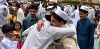 Eid-ul-Fitr being celebrated with great religious fervour today