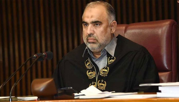 NA Speaker sends letters to 189 parliaments over occupied Kashmir issue