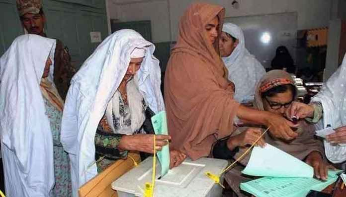 Polling underway for elections on 16 seats of tribal districts