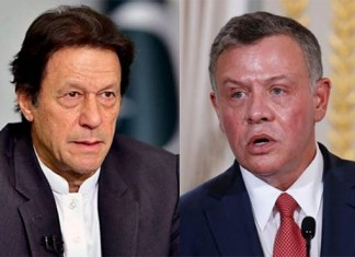 PM Imran, Jordanian King discuss situation in Occupied Kashmir in telephonic conversation