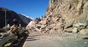 Karakoram Highway blocked due to landslide in Upper Kohistan