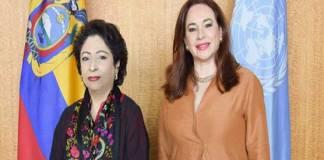 Maleeha Lodhi briefs UNGA President Maria over Kashmir unrest