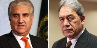 FM Qureshi briefs New Zealand Deputy PM about situation in occupied Kashmir