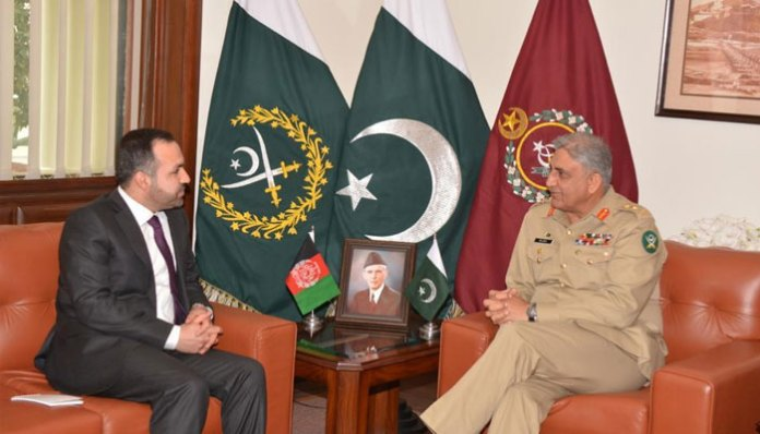 COAS Gen Bajwa, Afghan ambassador discuss regional security