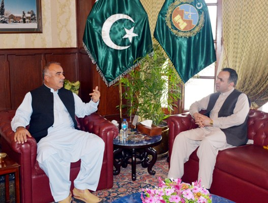 Afghan envoy Atif Mashal calls on KP Governor Shah Farman