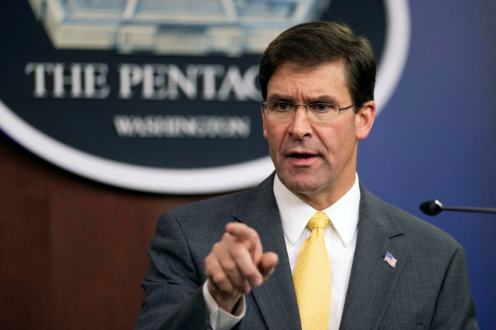 US heading towards political agreement with Afghan Taliban: Defense Secretary