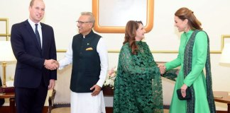 British royal couple called on President Arif Alvi