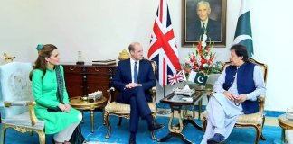 Prince William, Kate Middleton call on PM Imran Khan