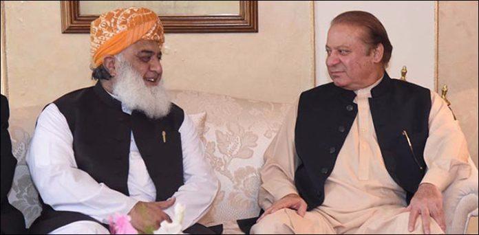 JUI-F seeks permission for meeting with Nawaz Sharif in jail