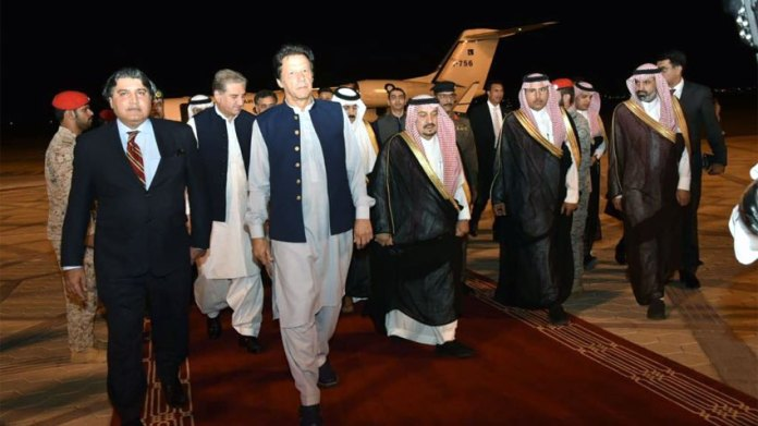 PM Imran reaches Saudi Arabia as part of peace initiative