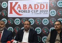 Pakistan to host Kabadi World Cup 2020