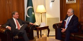 FM Qureshi, US envoy Zalmay discuss Afghan peace process