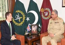 British High Commissioner calls on COAS Gen Bajwa