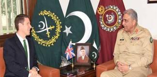 British High Commissioner calls on COAS Gen Bajwa