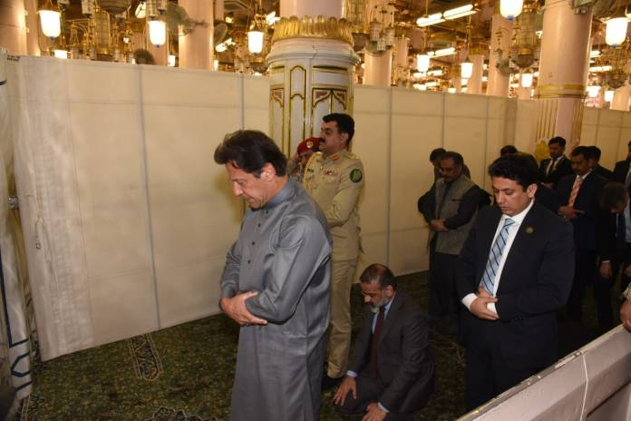 PM pays respect at Roza-e-Rasool (SAW) in Madina Munawwara