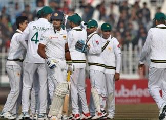 Play resumes after rain-enforced early lunch in Pakistan-Sri Lanka Test