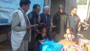 Warm clothes, notebooks distributed among orphan, poor schoolchildren