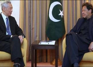 PM Imran meets Singapore premier, Azerbaijan president in Davos
