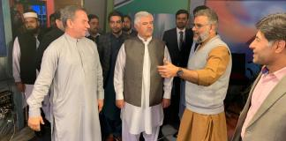 Chief Minister Khyber Pakhtunkhwa Mahmood Khan visits AVT Channels office