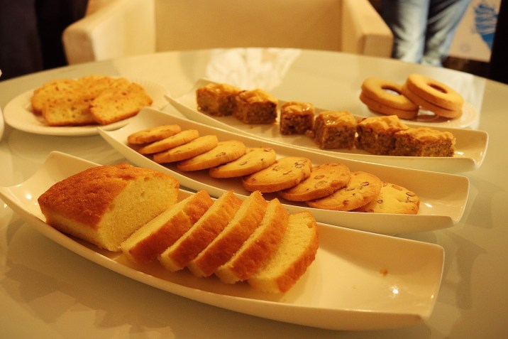 An assortment of baked products by Just Baked